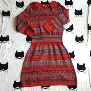 NWT Athleta Fara Fair Isle Sweater Dress Size L